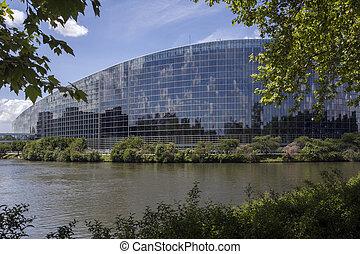 parlamento,  -, europeu,  Strasbourg, França