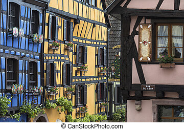 Riquewihr - Grand Est region of France. A popular tourist...