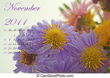 November 2011 - Page of 2011 calendar for November, with...