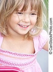 little girl  - smiling little girl in the park