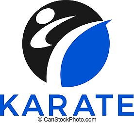 Martial arts vector design. - Karate Taekwondo fighter logo...