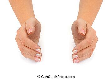Empty woman hands