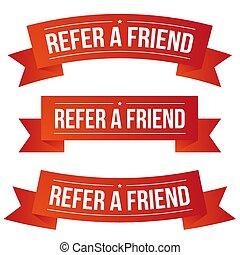 Refer a Friend ribbon vector