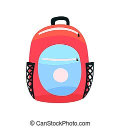 Colorful backpack, rucksack for school or travel vector...