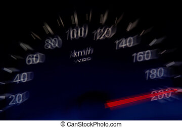 High Speed - High speed on an automobile speedometer Races