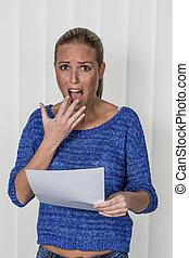 woman gets bad news