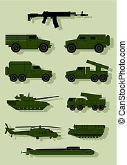 Infographics of military equipment..eps - Infographics of...