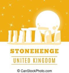 Stonehenge icon isolated on white background. Vector...