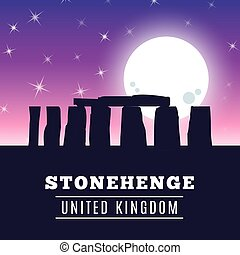Stonehenge icon isolated on white background. Vector...