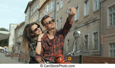 Teenagers Makes Selfie