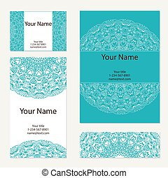 Business cards collection. Ornament for your design.