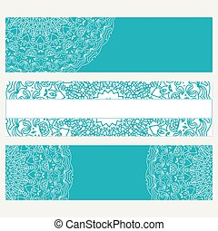 Set of banners for business. Abstract background with ornament