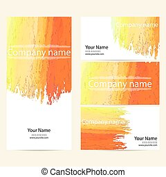 Business cards collection. Pastel background for your design.
