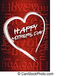 Happy mothers day love background card