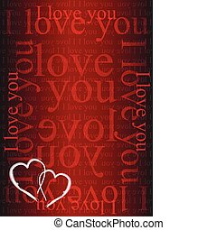 I love you background - I love you valentine day background...