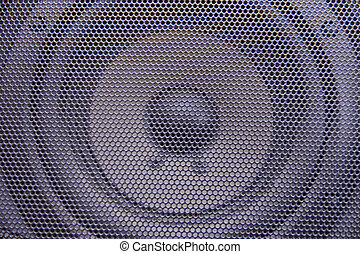 Loudspeaker - Loudspeaker behind a mesh lattice music...