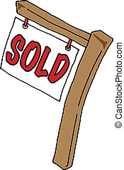 Real Estate Sign - Vector image of a Real Estate Sign saying...