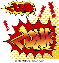 Zonk Comic Book Text - An image of zonk comic book text