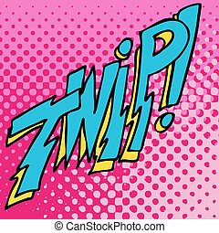 Comic Twip Sound Text Effect - An image of twip comic book...