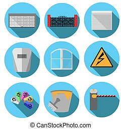 vector images related to construction - Set of vector images...