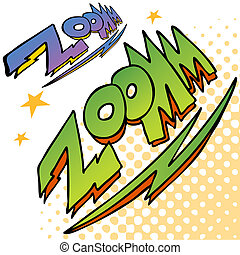 Zoom Bolt Sound Text - An image of zoom bolt sound text
