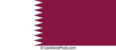 Flag of Qatar illustration of an official symbol
