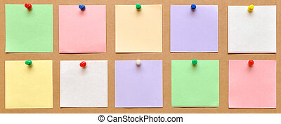 bright colorl paper - reminder notes on the bright color...
