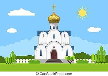 Russian orthodox church icon isolated on white background....