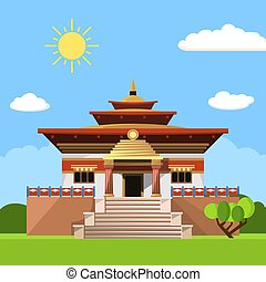 Temple of Heaven icon isolated on white background. Vector...