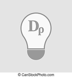 Isolated light bulb with a drachma currency sign -...