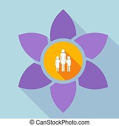 familia, padre, Pictogram, largo, solo, loto, hembra, sombra...