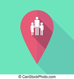 mapa, familia, padre, Pictogram, largo, marca, solo, sombra,...