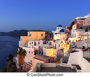 Oia Village in the Morning, Santorini, Greece