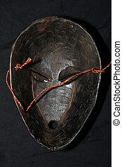 africano, tribal, máscara, -, Songe, tribu