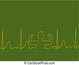 Medical background - A medical background with a heart beat...