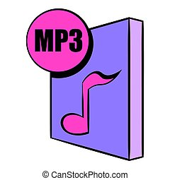 MP3 file icon cartoon