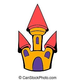 Castle icon cartoon