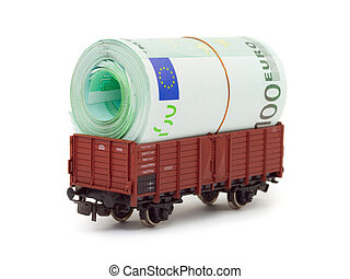 Train with money