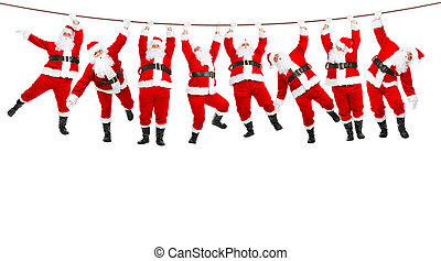 Christmas Santa - Funny Christmas Santa Isolated over white...