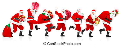 Happy running Christmas Santas - Happy running Christmas...