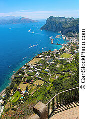 The island of Capri - Overlooking the scenery of the blue...