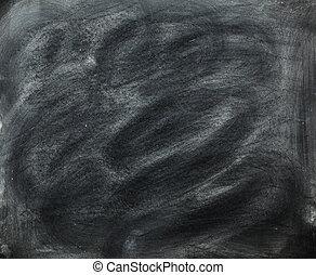 Blackboard with Chalk Dust - Chalkboard covered in...