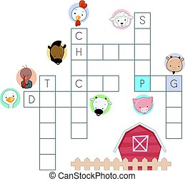 Farm Animals Crossword Puzzle