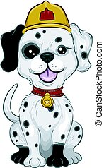 Dog Dalmatian Mascot Fire Fighter - Mascot Illustration...