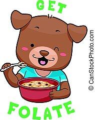 Mascot Dog Whole Grain Cereal Folate