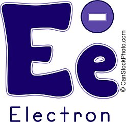Physics Letter E for Electron - Typography Illustration...