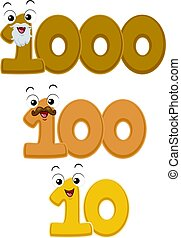 Mascots Millennium Century Decade - Mascot Illustration...