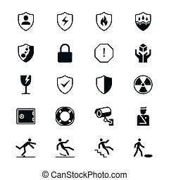 Safety flat icons - Simple vector icons. Clear and sharp....