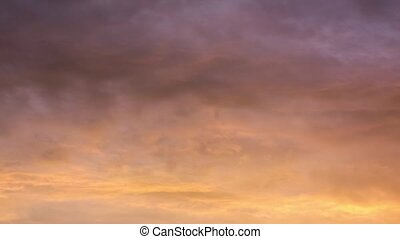 Time lapse footage of clouds with vivid colors. Dreamy....