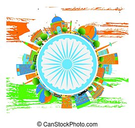 Happy Indian Republic Day Banner. Vector illustration.